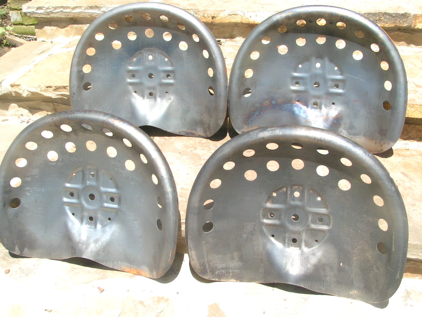 Four Steel Tractor Metal Farm Machinery Stool Seats Or