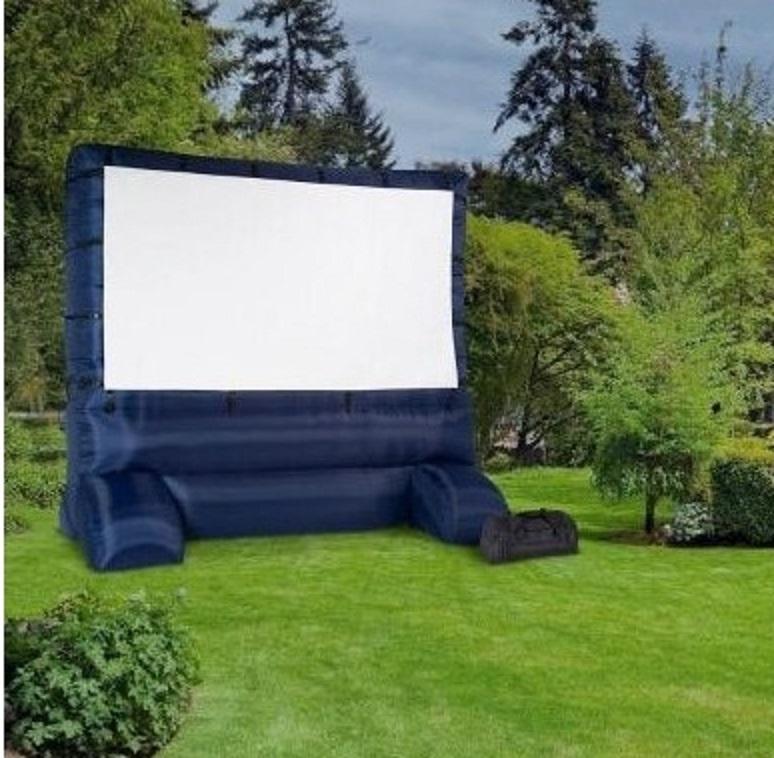 12ft outdoor self inflating movie screen widescreen backyard air blown
