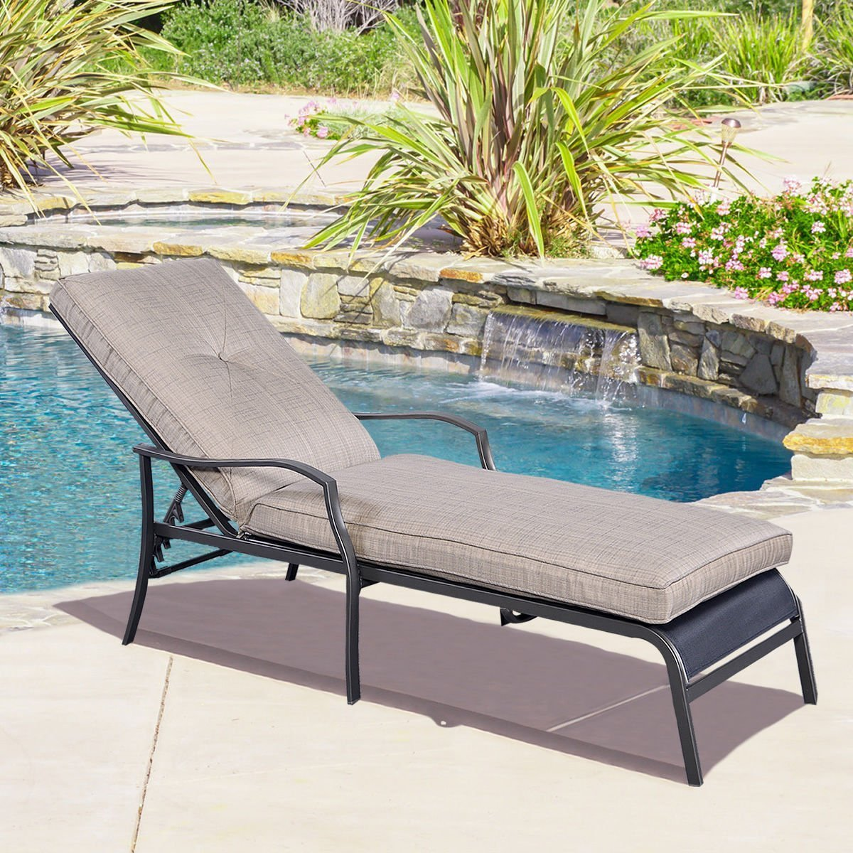 Pool Chaise Lounge Chair Recliner Outdoor Patio Furnitu Lounges