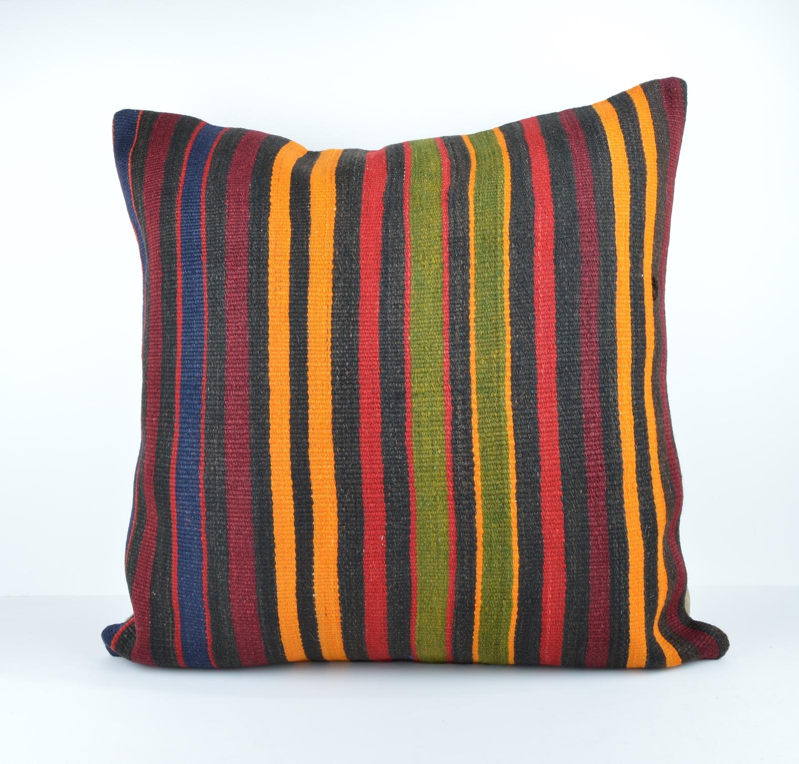 Jumbo Decorative Pillow : 24x24 large kilim pillow big pillow decorative pillow cover large cushion case - Pillows
