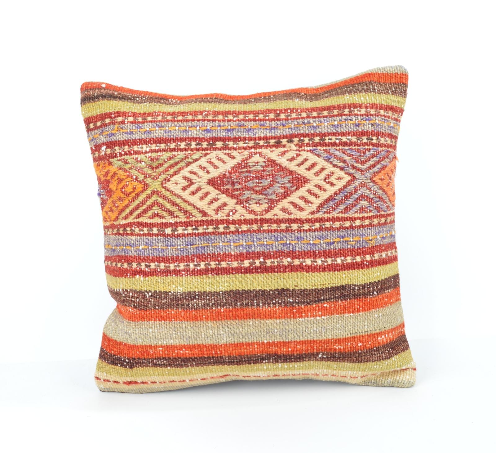 """16x16"""" Pastel Pillow Wool Pastel Kilim Pillows Rug Pastel"""