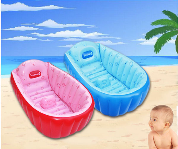 summer portable large baby toddler inflatable bathtub thick bath tub pool b. Black Bedroom Furniture Sets. Home Design Ideas