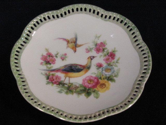 antique bavaria germany schumann arzberg pheasant game bird plate luster plate schumann. Black Bedroom Furniture Sets. Home Design Ideas