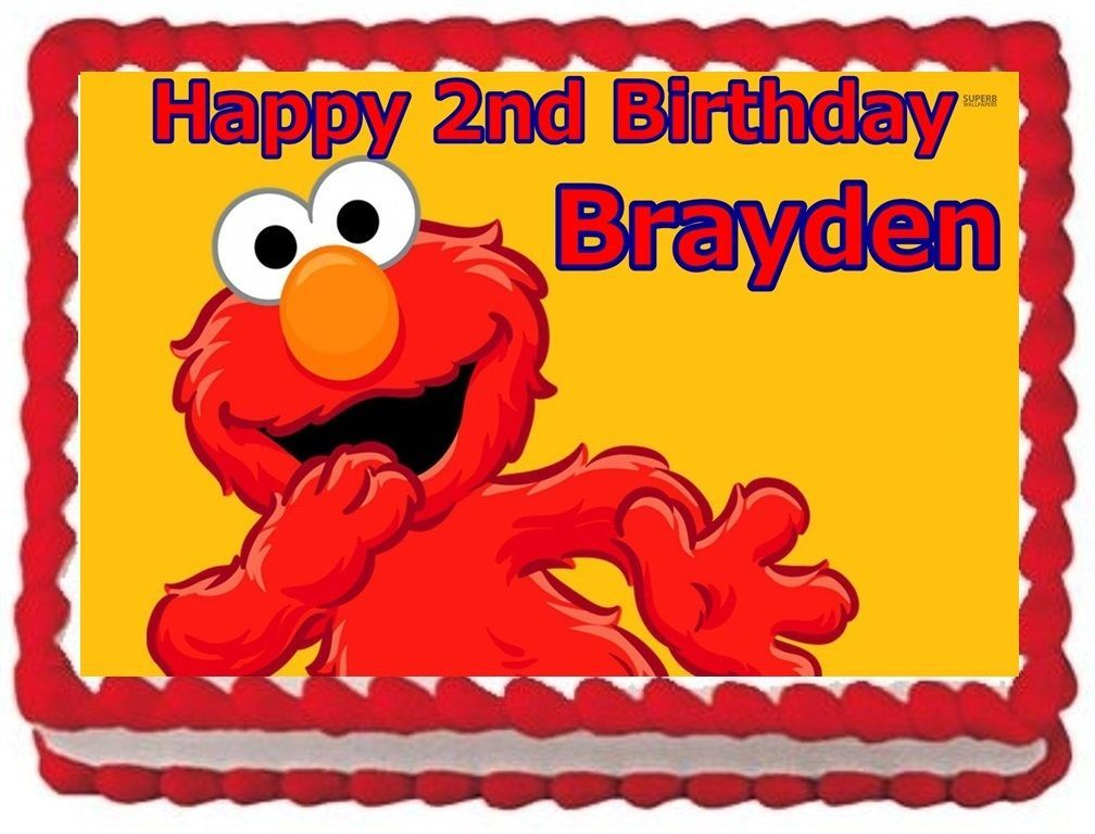 ELMO EDIBLE CAKE TOPPER BIRTHDAY DECORATIONS - Candles ...