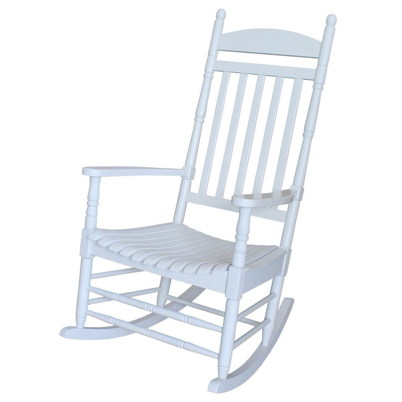 Classic White Wood Front Porch Rocking Chair Chairs