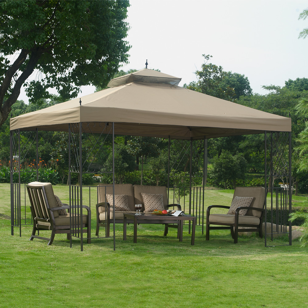 Garden Metal Gazebo : ... Buyer Prices » Outdoor Metal Gazebo - Patio Steel Canopy - 12 x 10