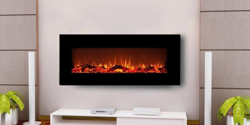 electric wall fireplace 50 inch heater mount remote