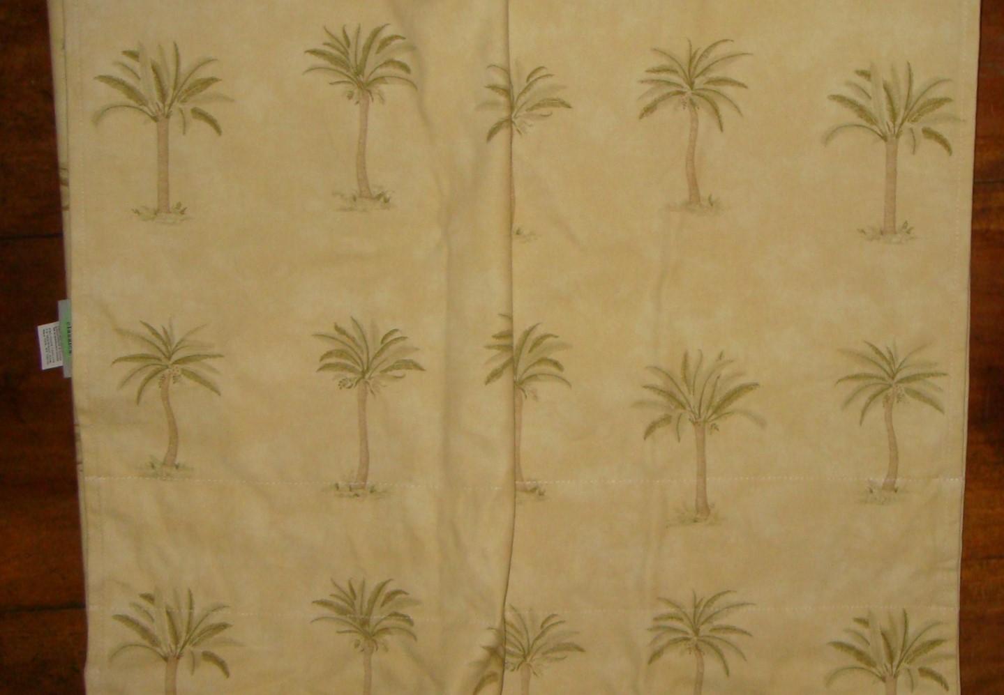Waverly Tahiti Palm Trees Window Treatment Valance