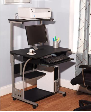 Portable Rolling Laptop Cart Stand Dorm Student - Desks & Home Office