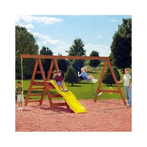 Custom Backyard Playsets : Outdoor Playsets Kit Wooden Swing Set Custom Backyard Playground