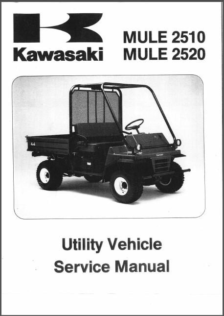 1993-2000 Kawasaki Mule 2510    2520 Utv Service Repair Workshop Manual Cd Kaf620