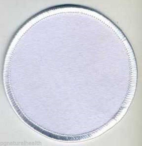 Quot inch blank white patch embroidered edge sew on or iron