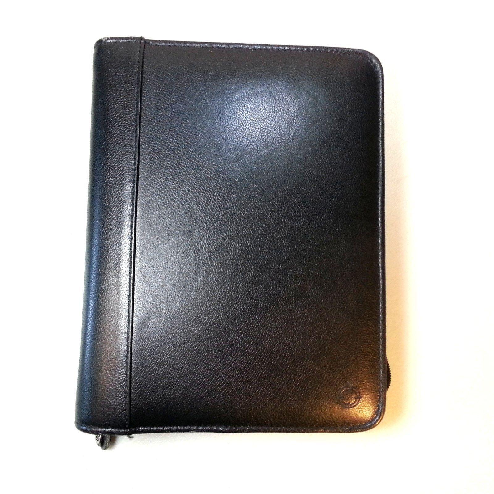Franklin Covey Top Grain Black Leather Binder Planner