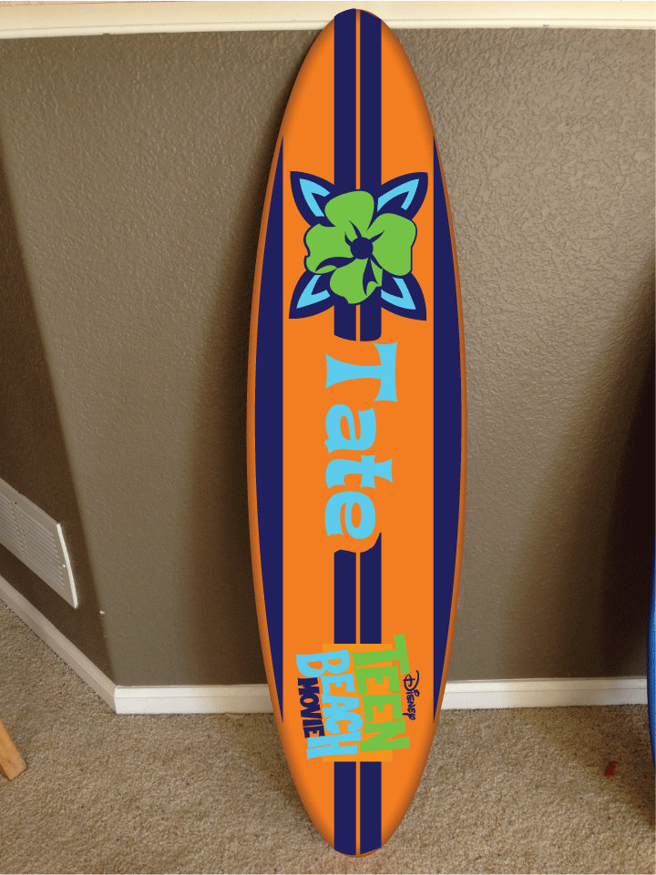wall hanging surf board surfboard decor hawaiian beach ...