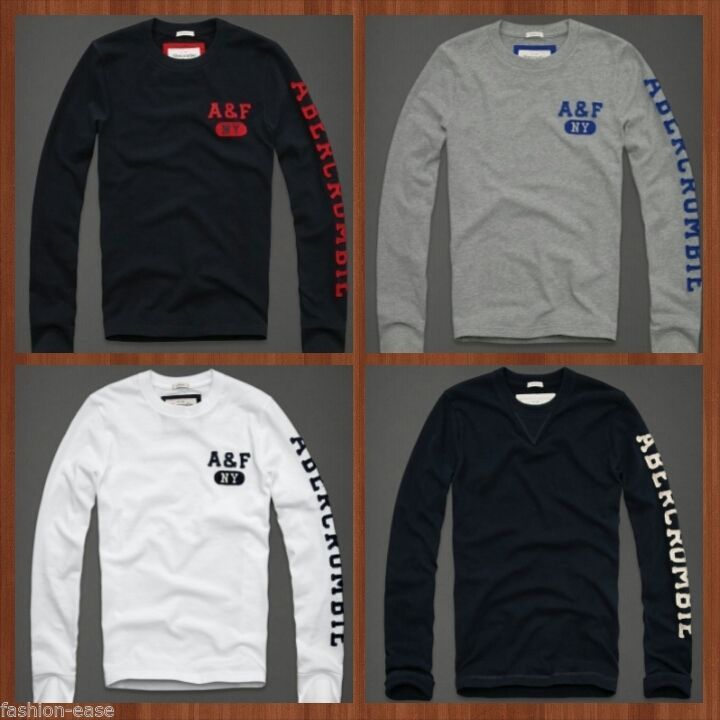 Men s abercrombie fitch long sleeve t shirts in 39919 uk for Abercrombie and fitch tee shirts