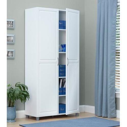 Storage No 2 Utility Storage: 2 Door Tall White Utility Storage Cabinet Garage Kitchen