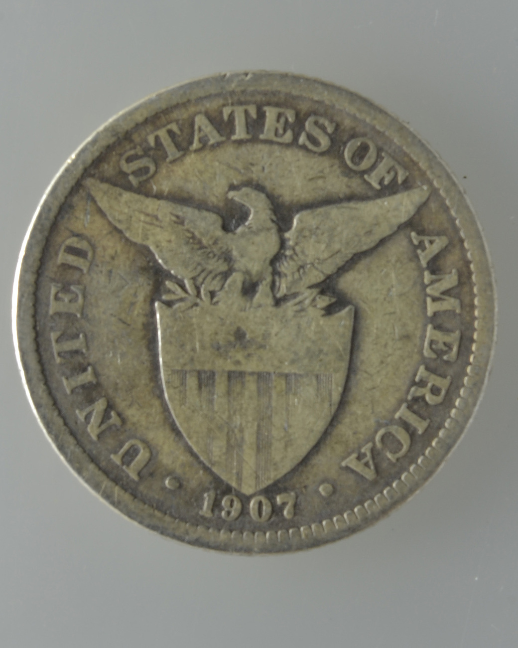 Coin Ph: U.S. Philippine 1907, 50 Centavos Silver Coins- (Two