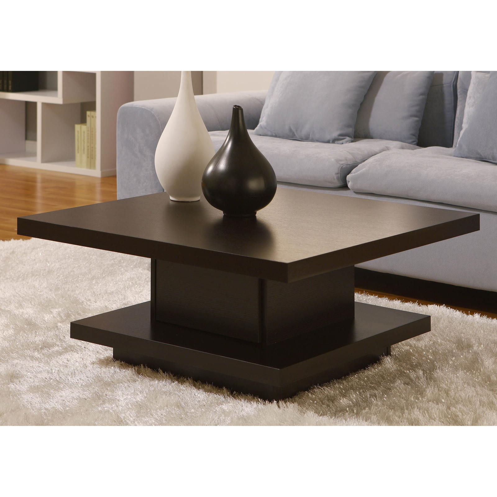 Contemporary Modern Wood Coffee Tables Unique Square Style With