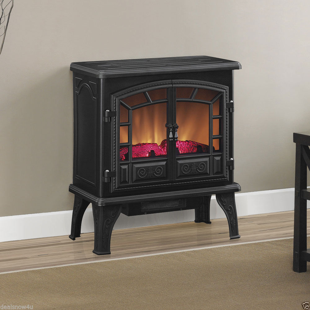 portable electric fireplace large stove heater winter home