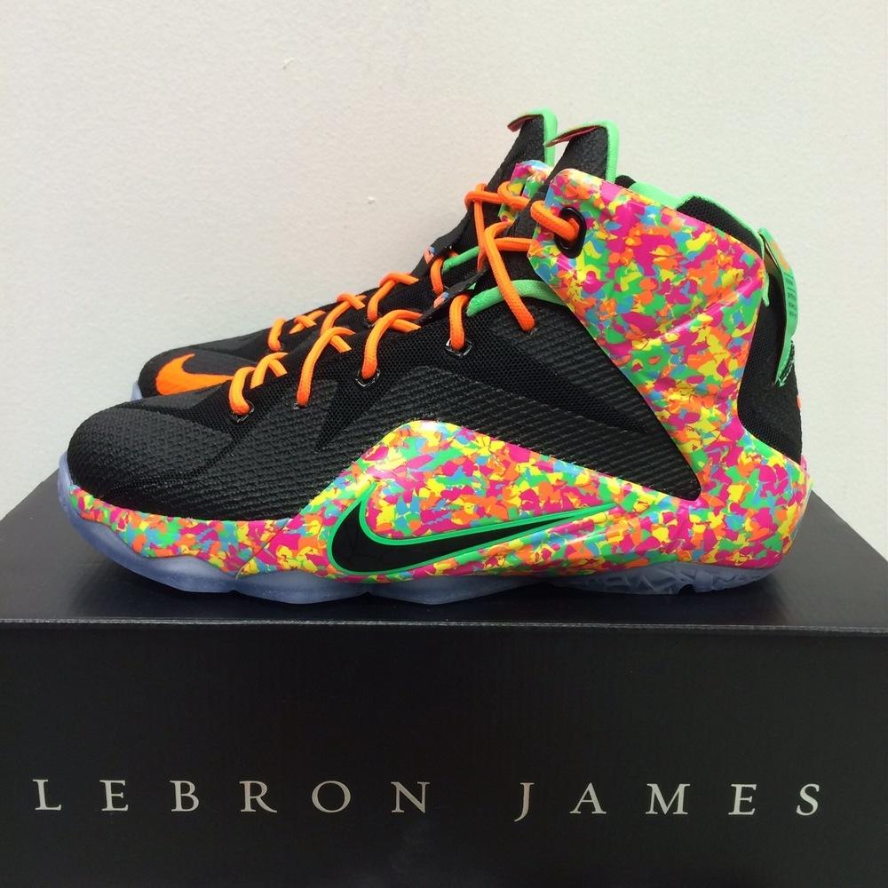 lebron 12 fruity pebbles sz 65 7 unisex adult shoes
