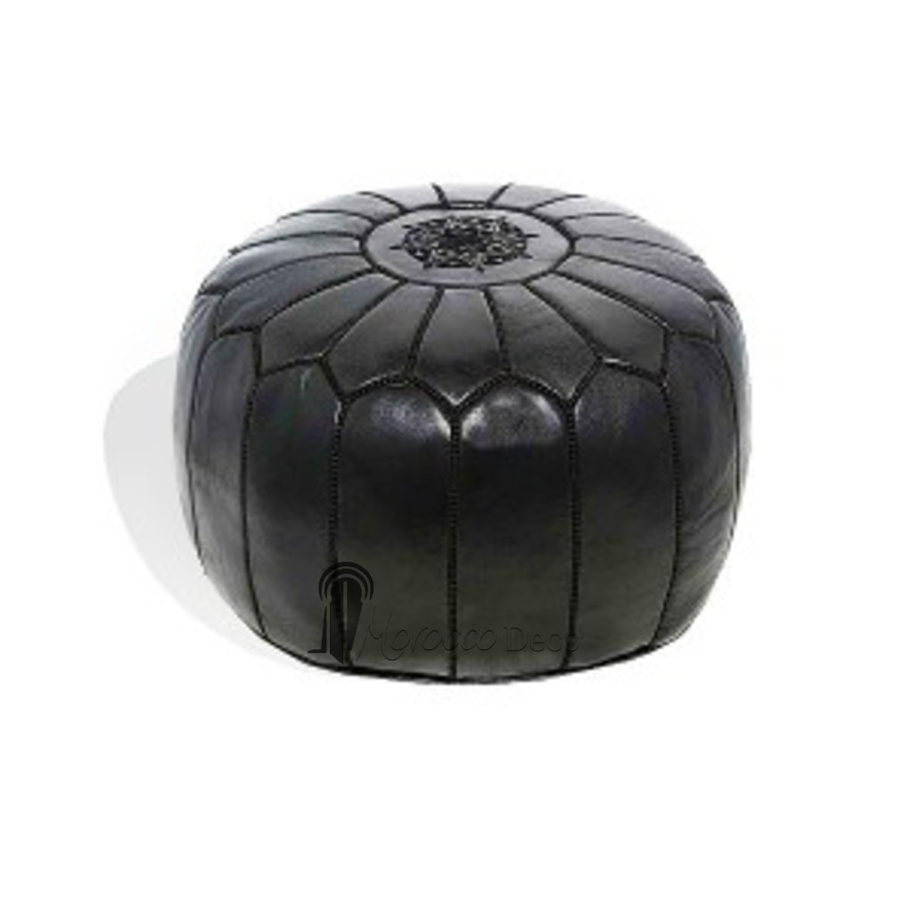 459 mket place for Black leather footstool