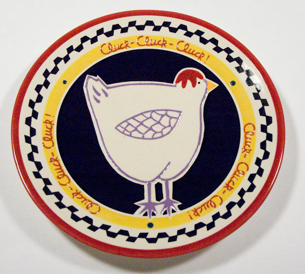 southern living at home hilarity hen plate chicken serving dish becky