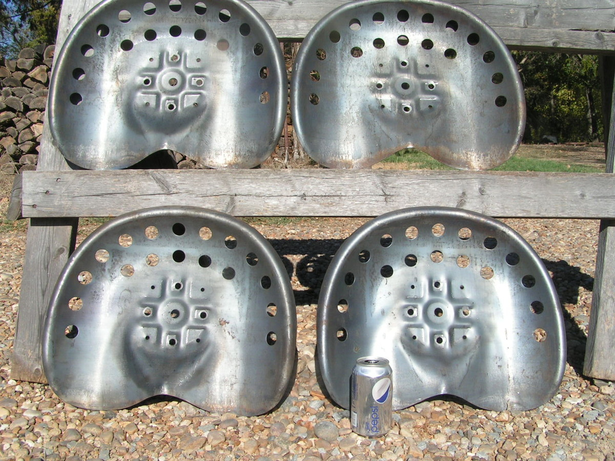 Repro Tractor Seat : Four steel metal tractor seats