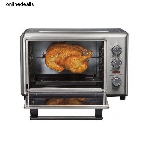 Countertop Rotisserie Oven Convenient Convection Cooking Roasting ...