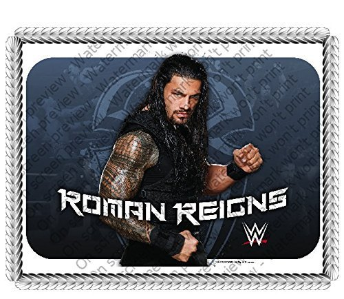 ... Round WWE Roman Reigns Edible Image Cake Toppe - Coins & Paper Money