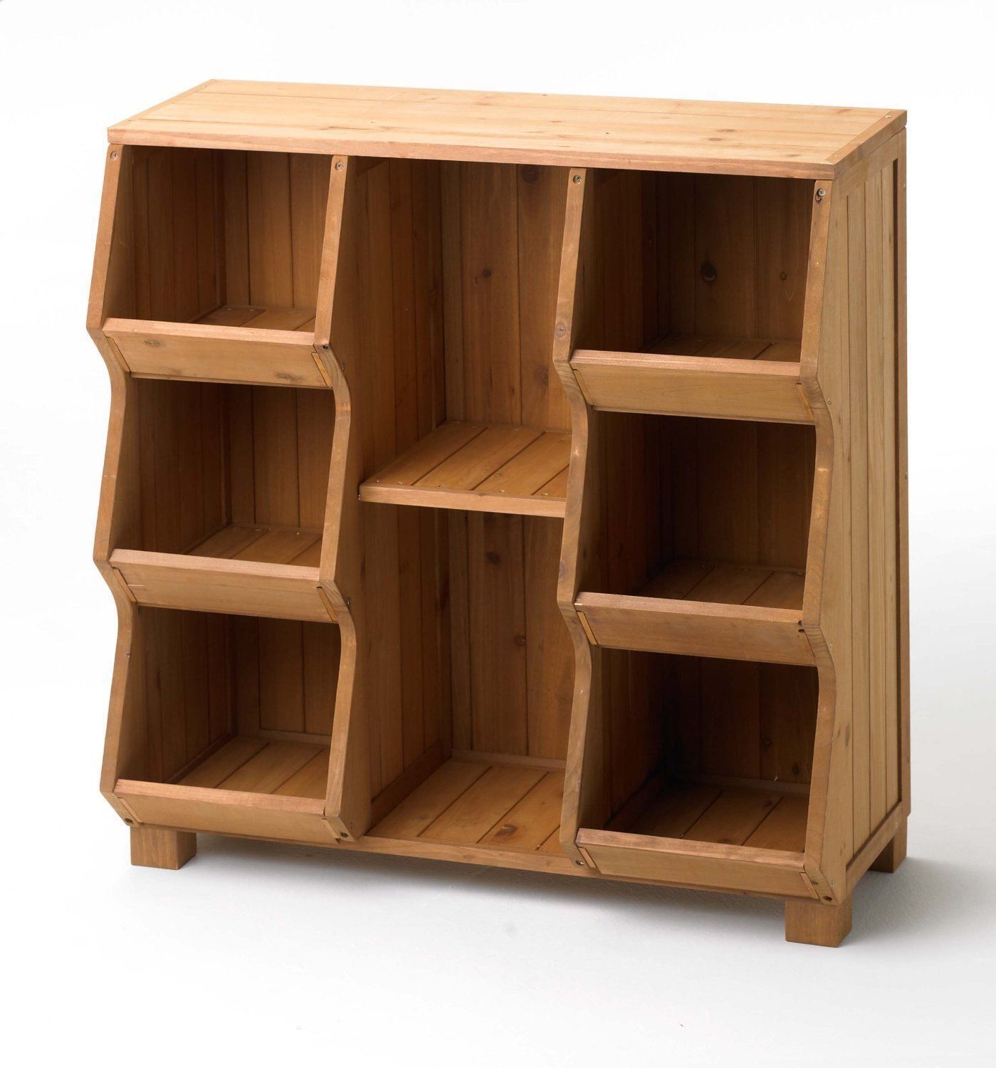 Wood Storage Cabinet With Shelves ~ Wood storage cabinet single tall stackable home shelf toy