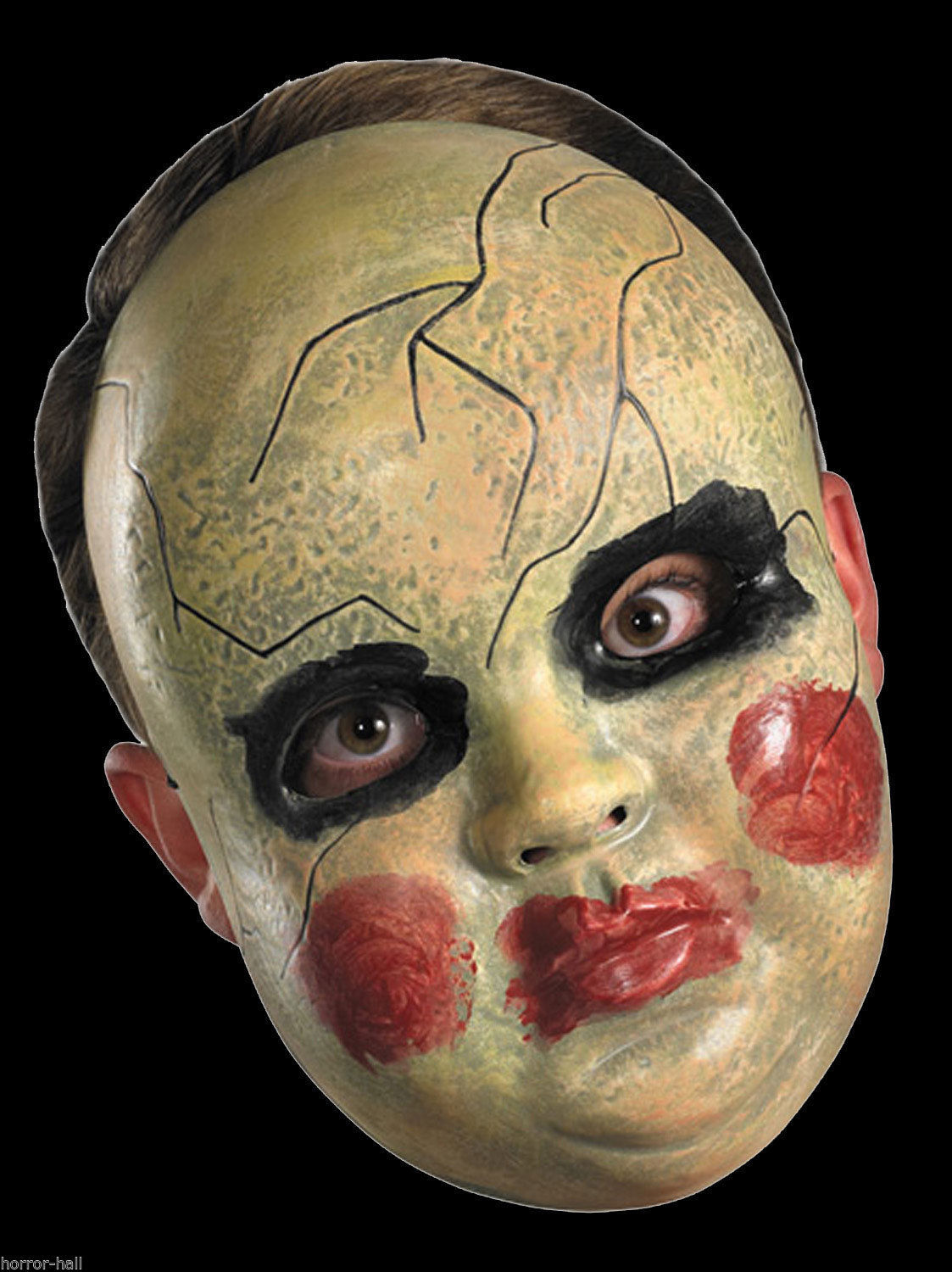 Creepy Horror Prop BABY DOLL FACE MASK Spooky Halloween ...