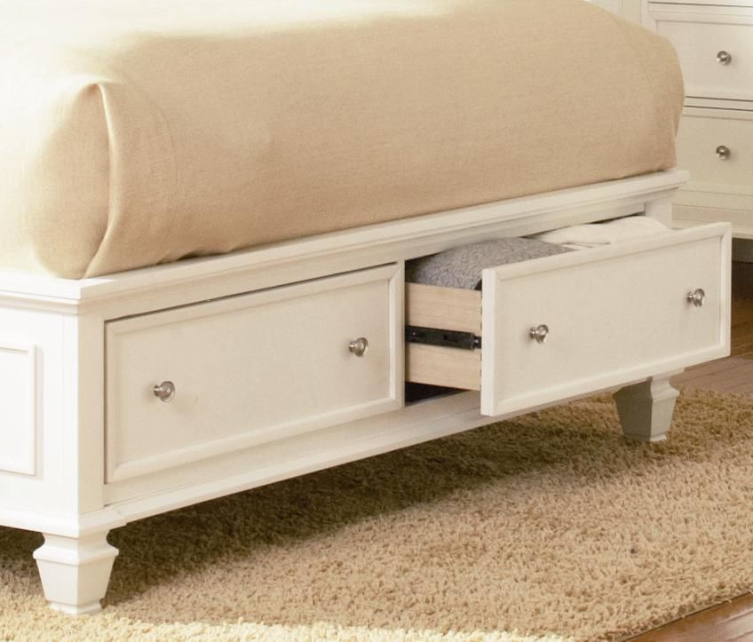 white sleigh storage clissic 5pc california king size bedroom set