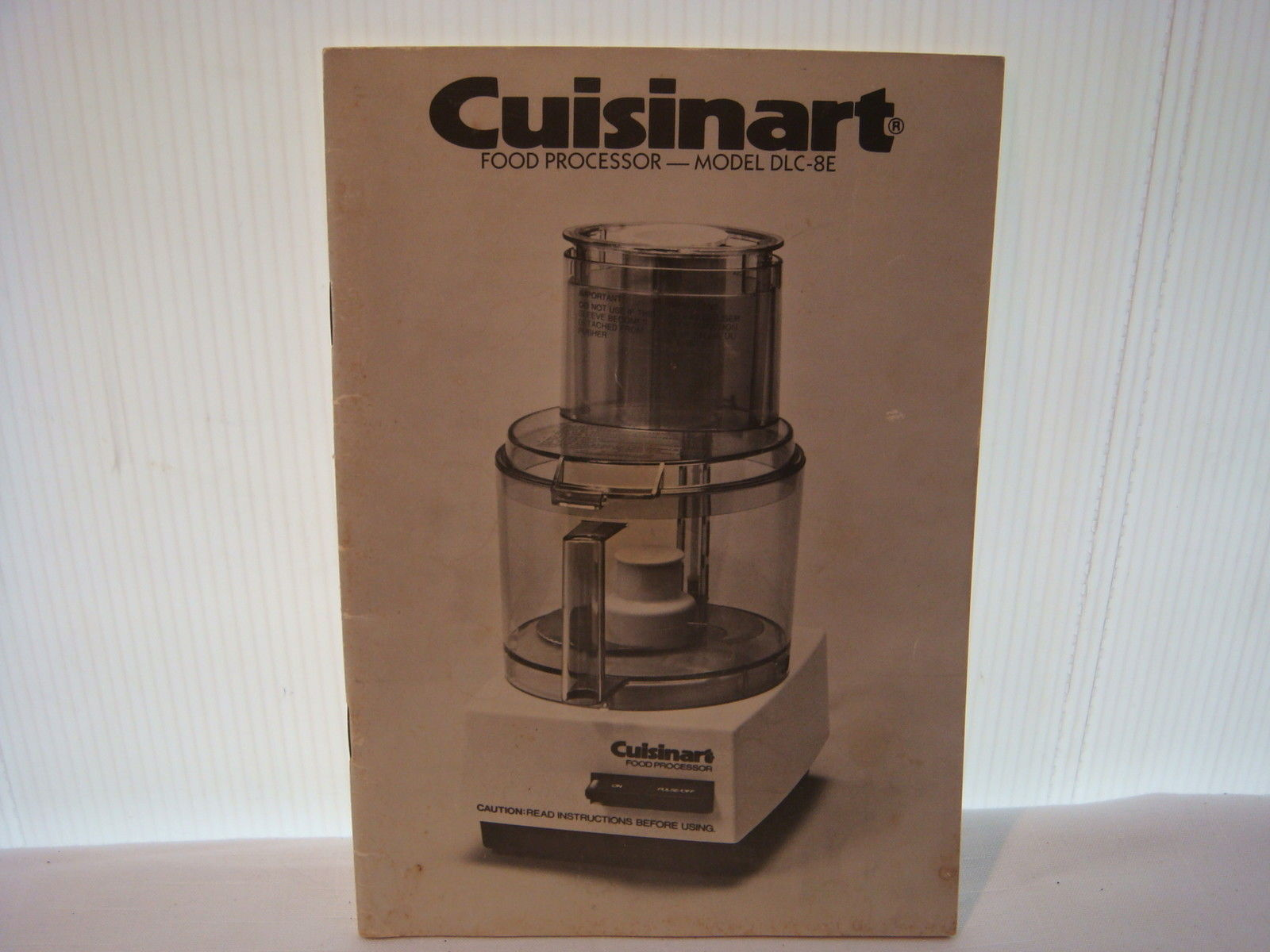 Cuisinart Food Processor Instruction Manual