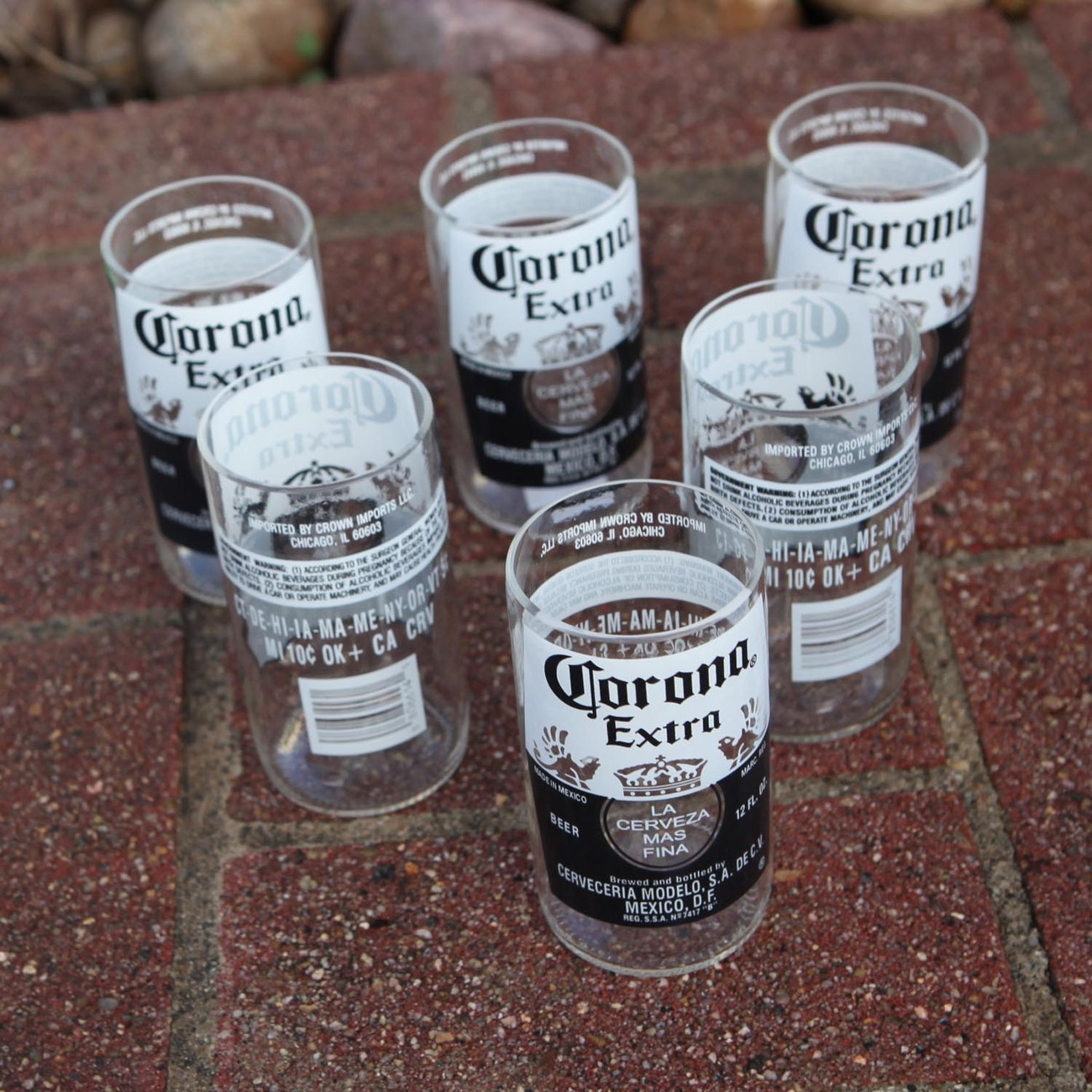Corona extra 8 ounce juice glasses made from beer bottles for How to make corona glasses