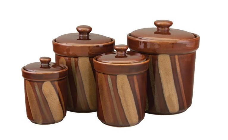 ceramic canister set kitchen storage jars coffee sugar tea