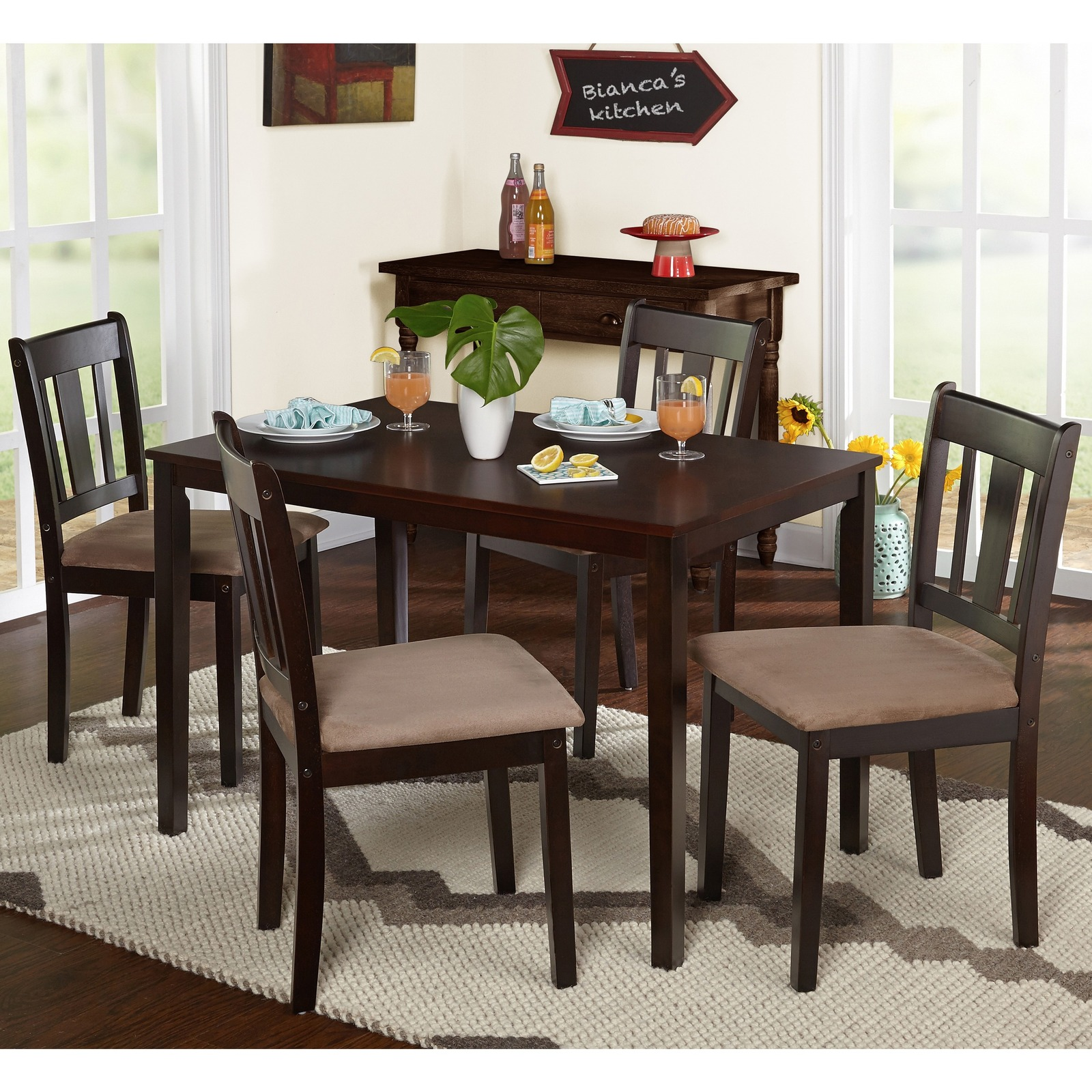 Set 5 Piece Dining Room Furniture Set Table Chairs Dining Sets