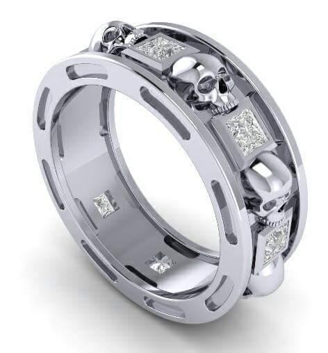 Skull Wedding Ring Men Or Woman