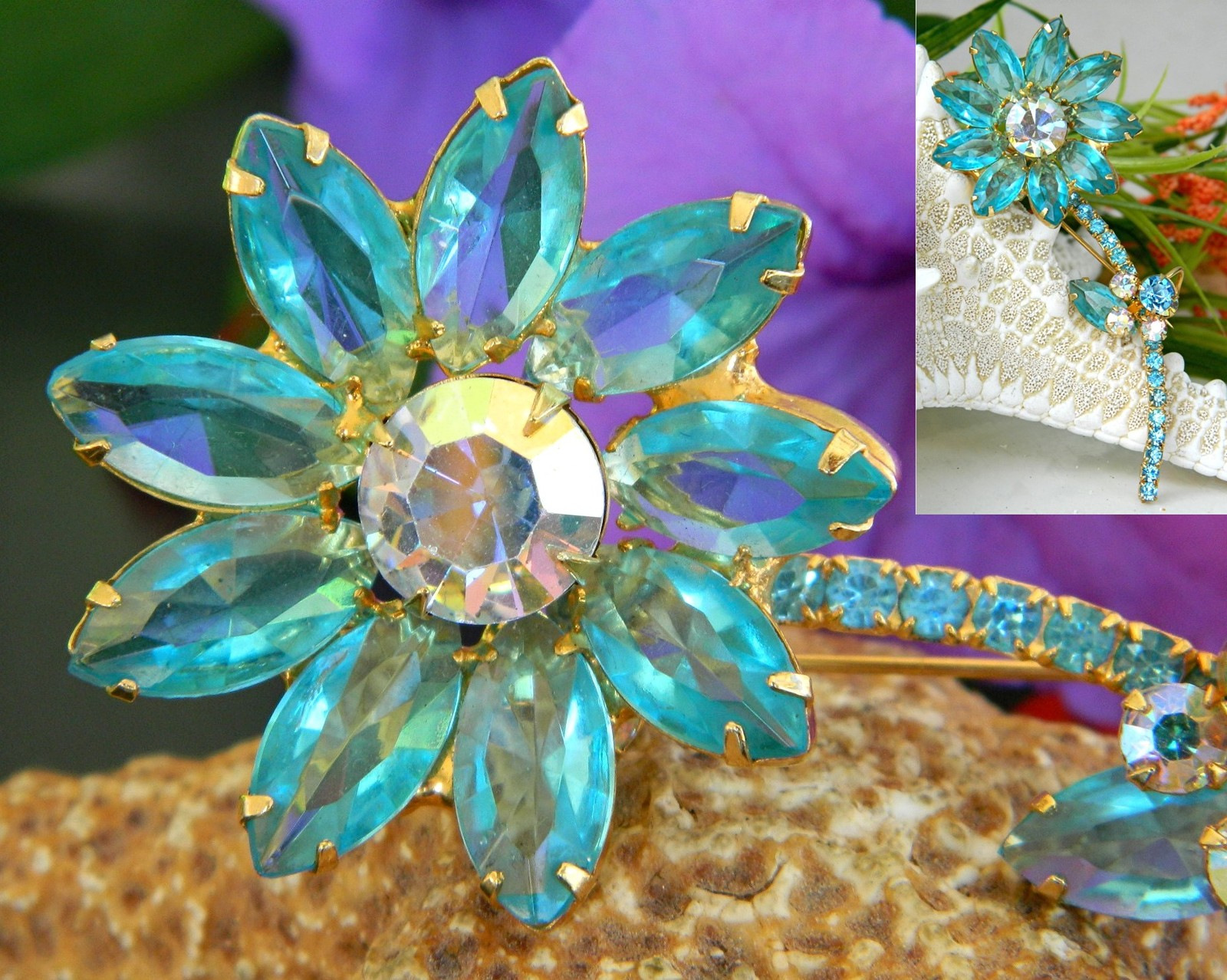 Vintage_juliana_rhinestone_long_stem_flower_pin_brooch_aqua_unsigned