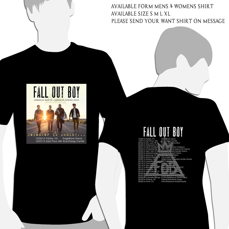 Fall Out Boy Tour Dates 2015 Black Shirt and 50 similar items