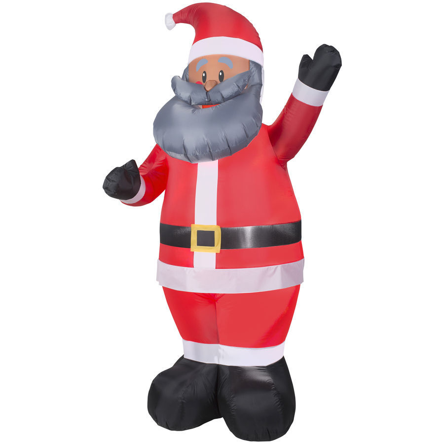 Gemmy ft lighted santa christmas inflatable yard decor