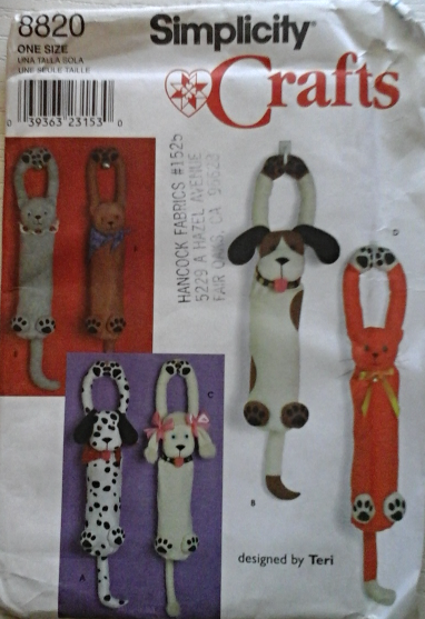 vintage accessories for the home simplicity 8820 or cat plastic bag holder sewing 8820