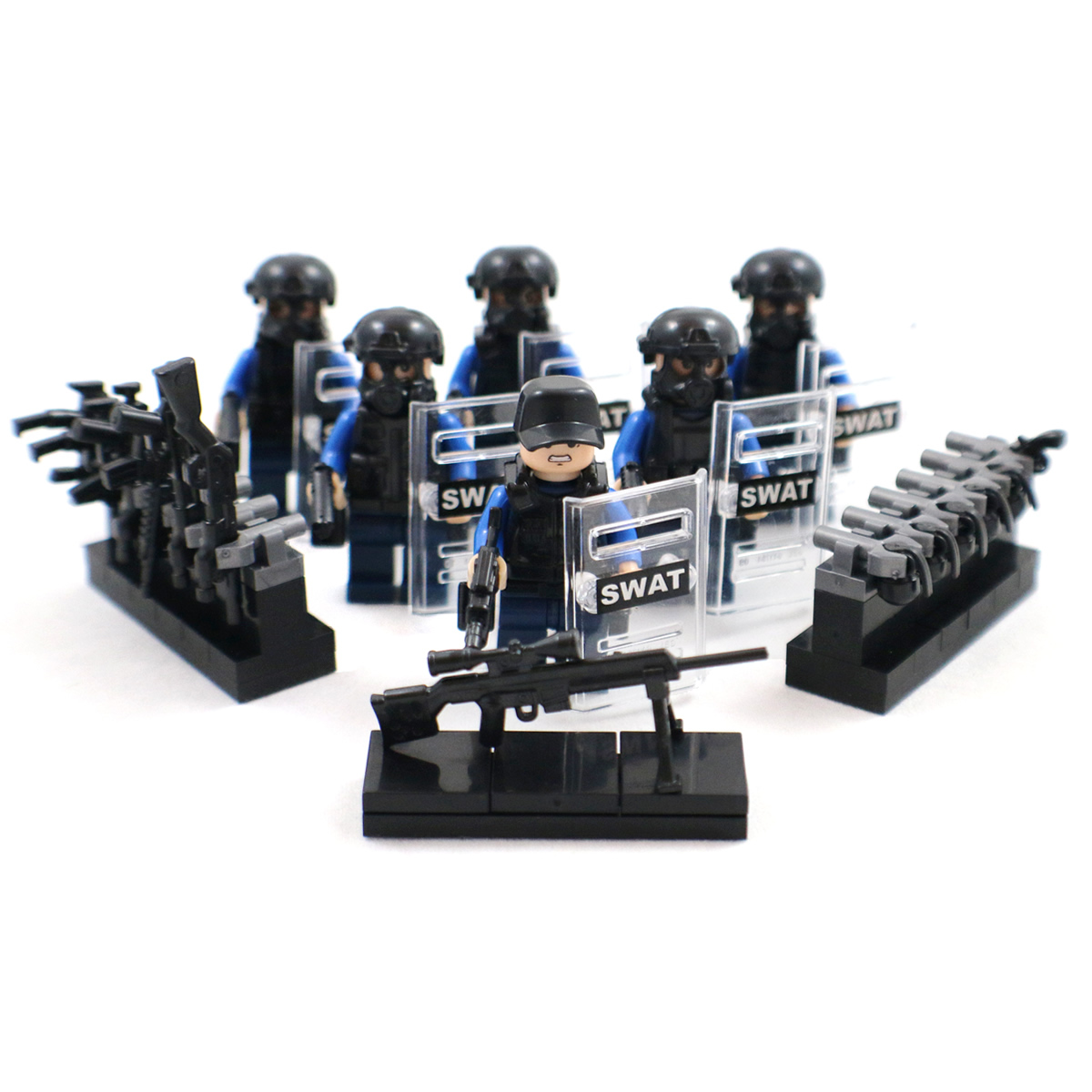 riot police swat minifigs lego comaptible minifigures other. Black Bedroom Furniture Sets. Home Design Ideas