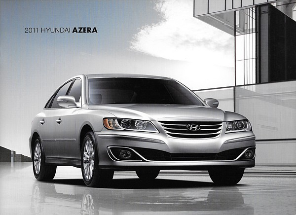 2011 hyundai azera sales brochure catalog 11 us gls. Black Bedroom Furniture Sets. Home Design Ideas