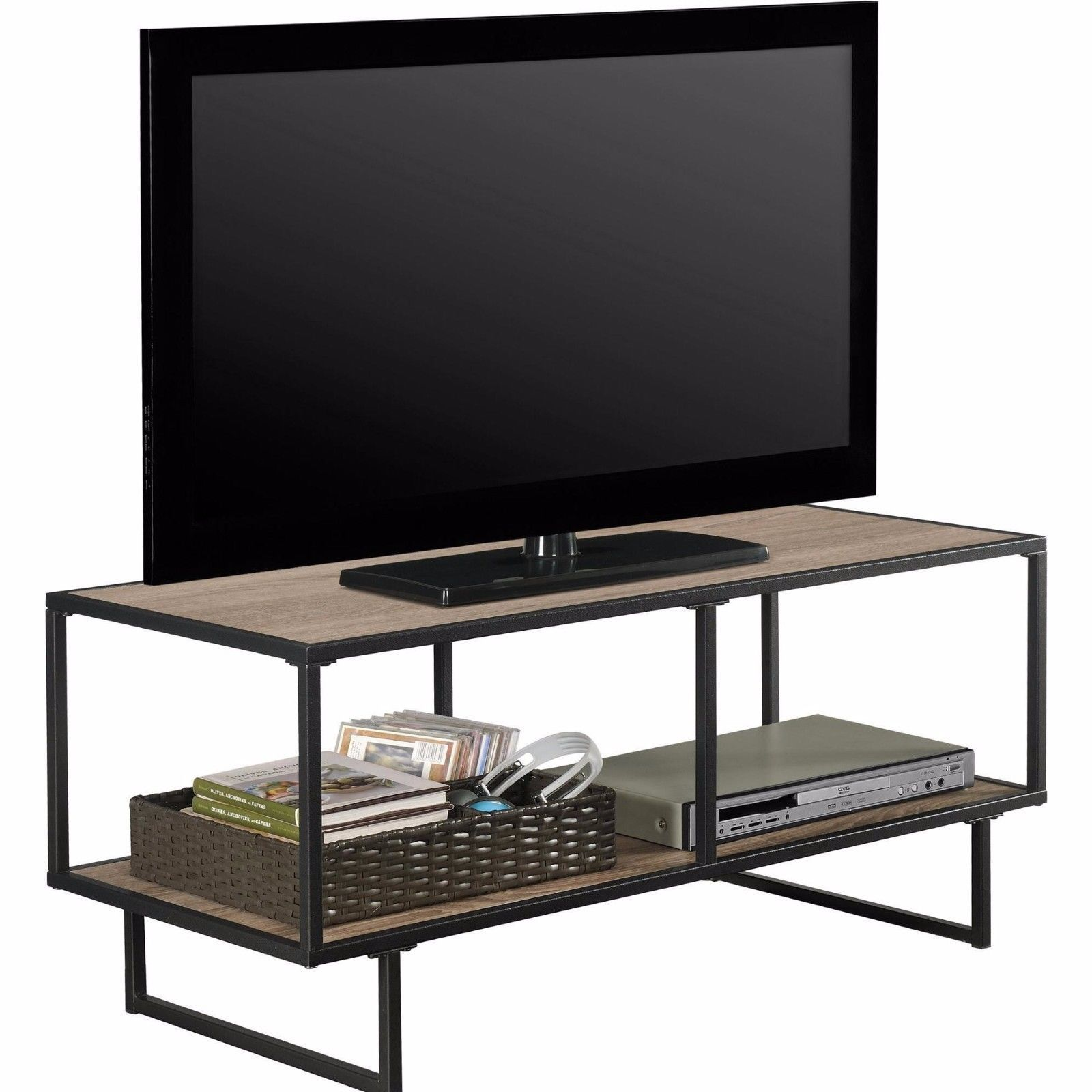 Tv stand media storage stand console center furniture flat for Media and tv storage furniture