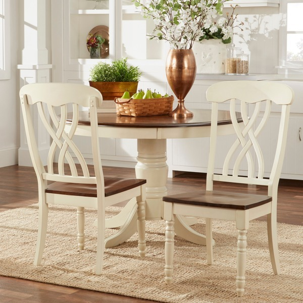 Country Dining Table Sets: 5 Piece Country Antique White Dining Set Home 1 Table 4