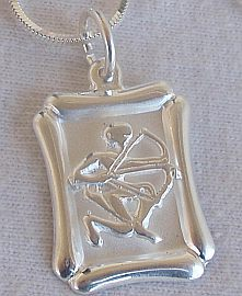 Sagittarius B zodiac sign pendant