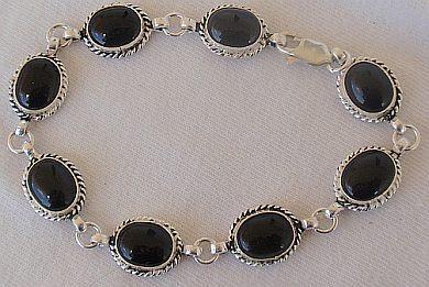 Silver Onyx bracelet