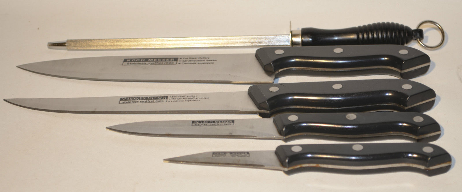 set of 5 schinken koch messer stainless kitchen knife kitchen steak knives. Black Bedroom Furniture Sets. Home Design Ideas