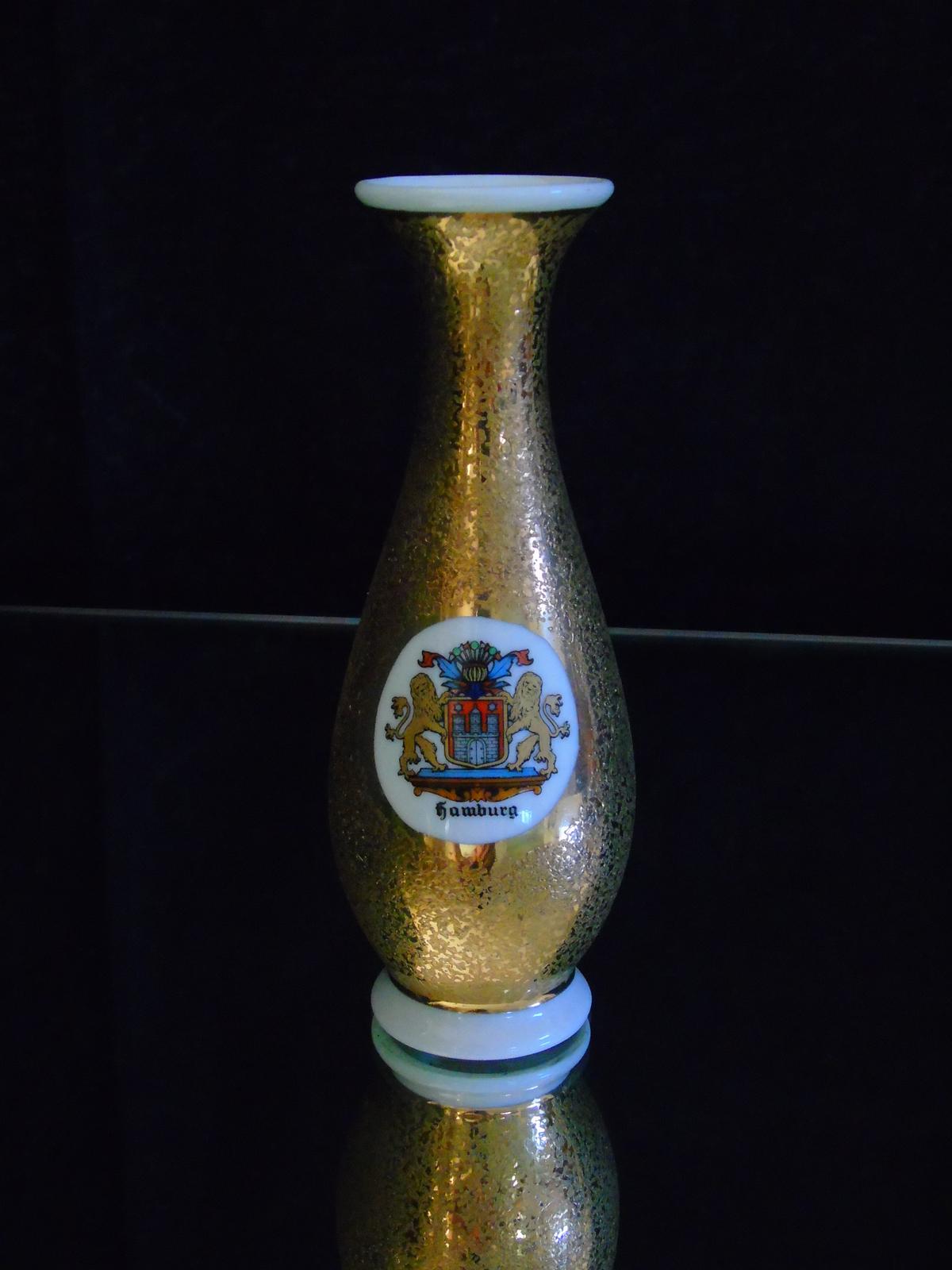 royal porzellan bavaria km germany speckled gold small vase vases. Black Bedroom Furniture Sets. Home Design Ideas