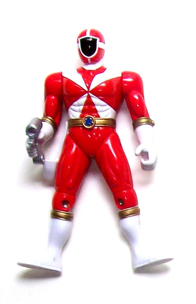 2000 Bandai Power Rangers Lightspeed Rescue Red Ranger 5 ...